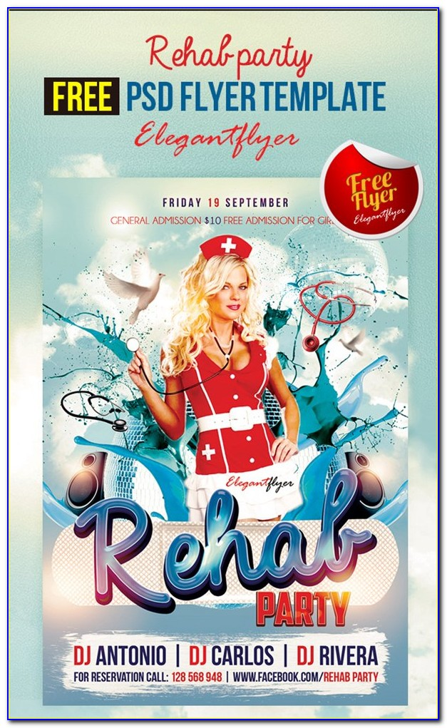 Pool Party Flyers Templates Free