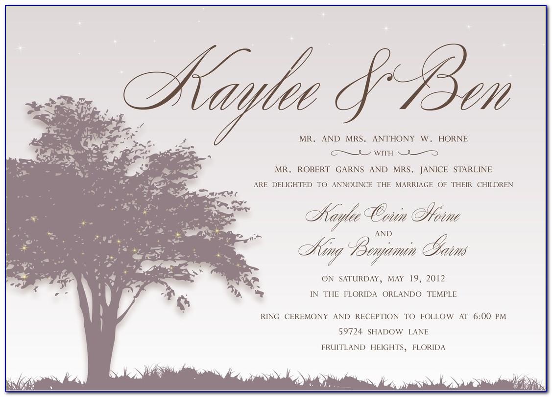 Very Best Emily Post Wedding Invitation Image
