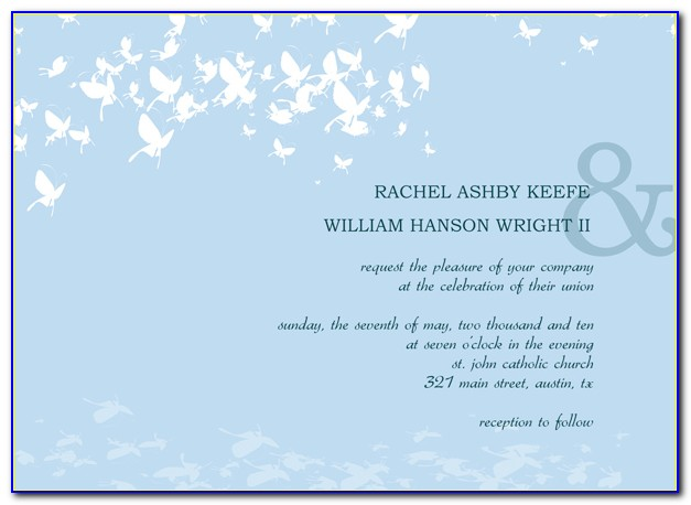 Post Wedding Invitation Templates