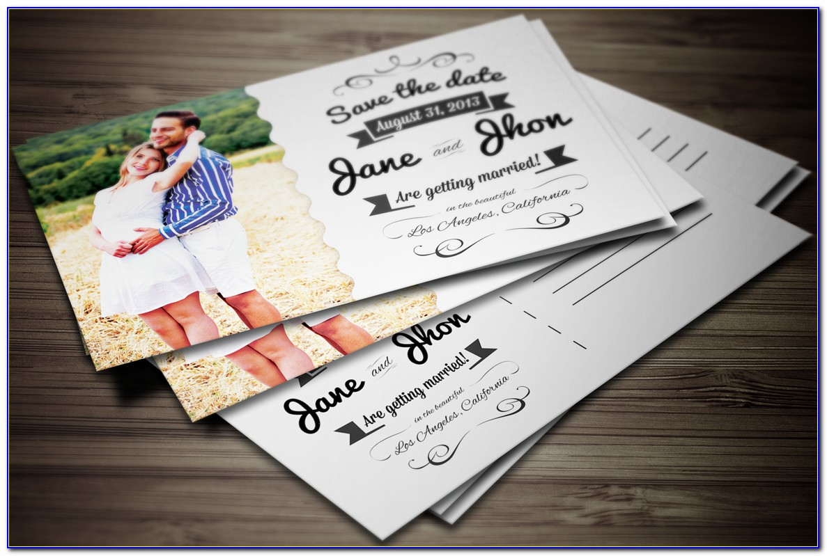 Postcard Party Invitation Template Free