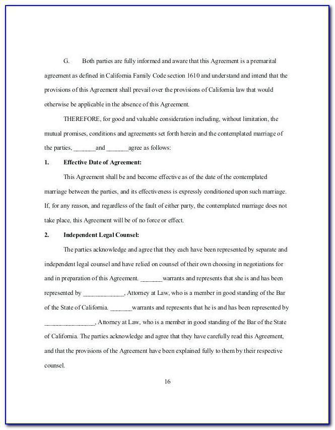 Prenuptial Agreement Template Nz