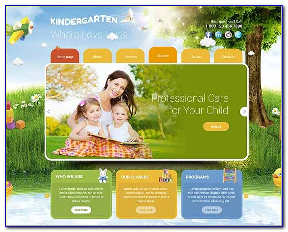 Preschool Responsive Website Templates Free Download