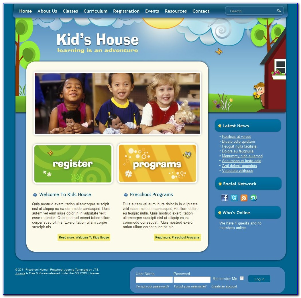 Preschool Website Templates Bootstrap Free Download