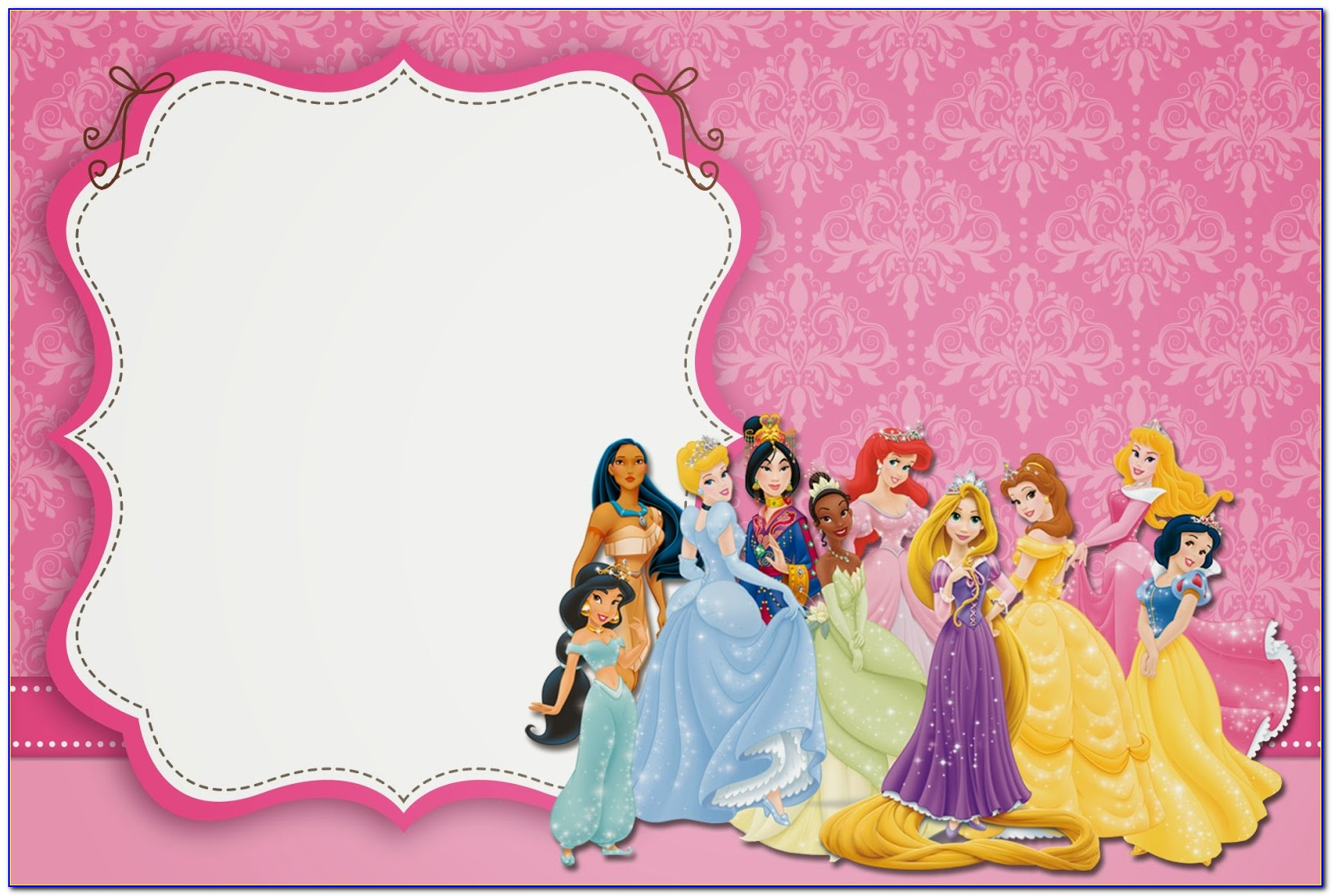 Princess Birthday Template Invitation