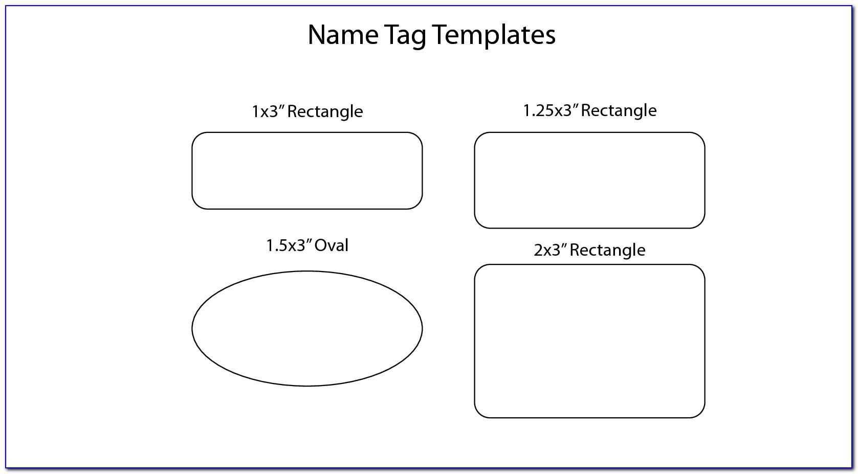 Printable Id Badge Template Free