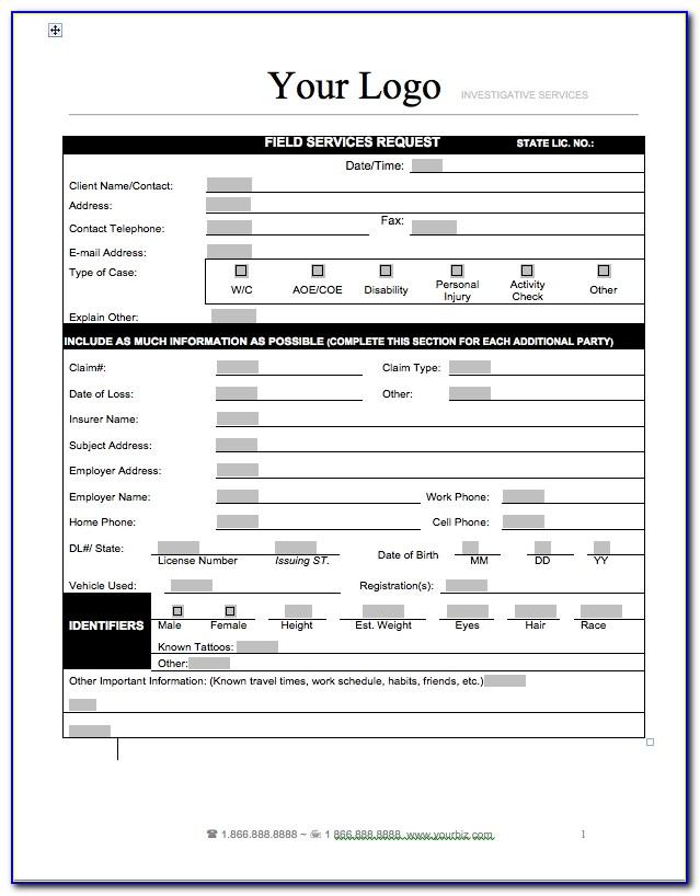 Private Investigator Agency Forms Private Investigator Business Private Investigator Report Templates