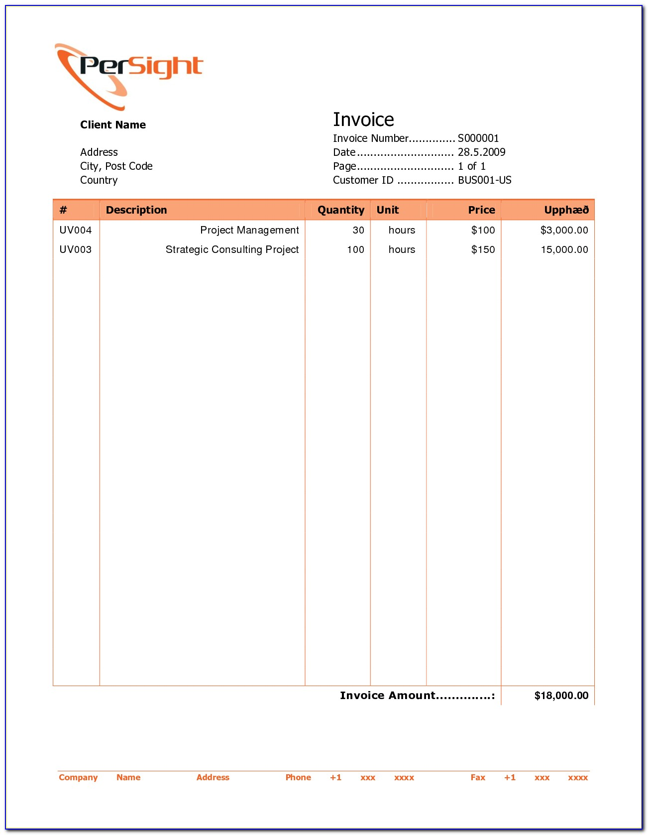 Professional Invoices Template