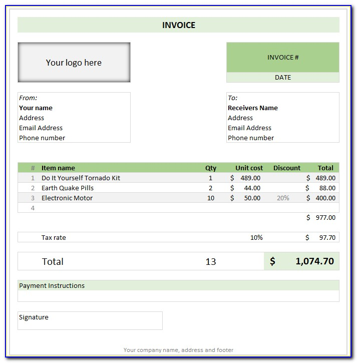 Progress Billing Template Excel