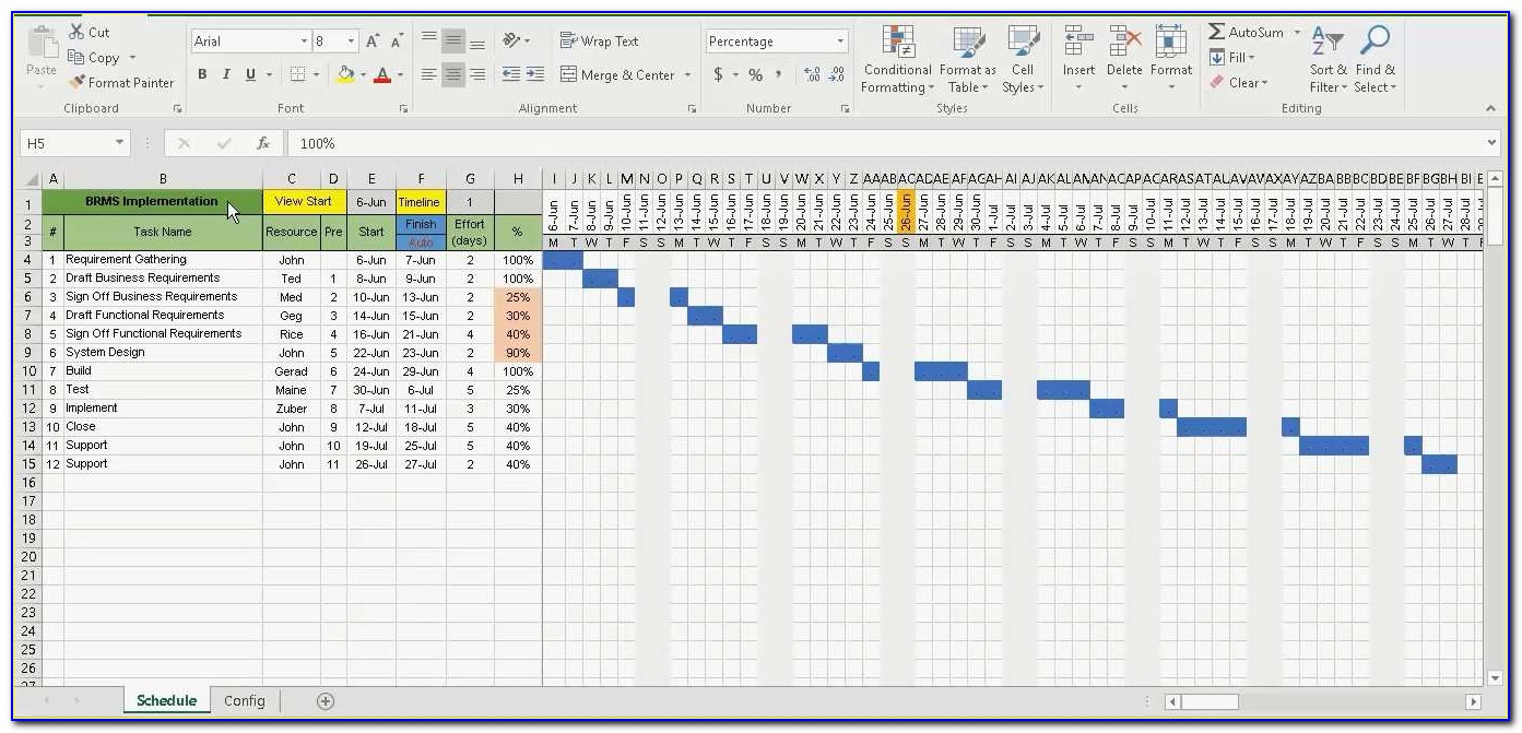 Gantt Project Planner Template With Microsoft Excel 2013 Download Fresh Project Plan Excel Template Free Download Gallery Template Design