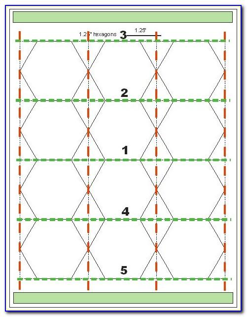 Quilting Hexagon Template Sheet