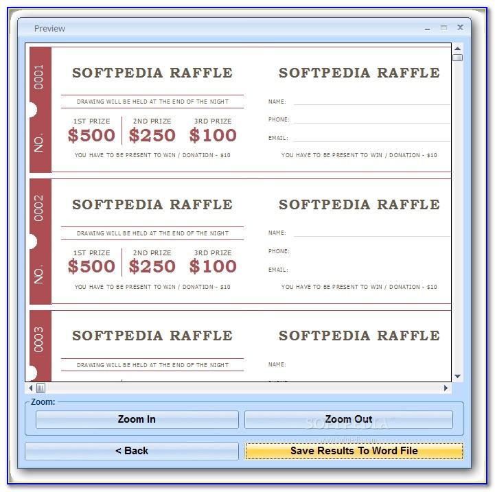 Raffle Ticket Template Download