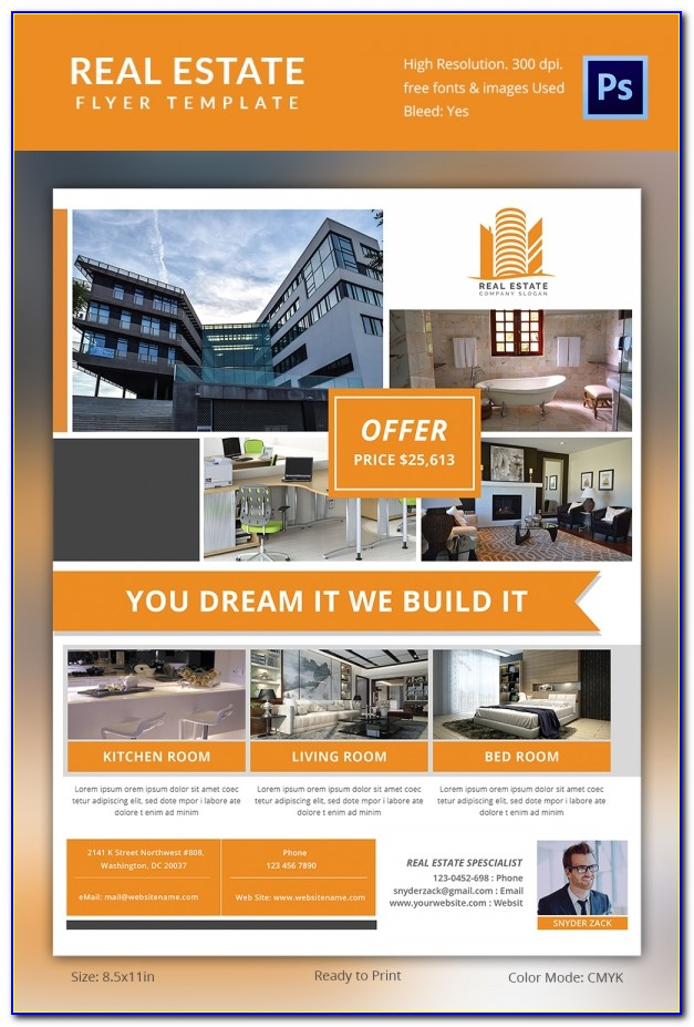 Real Estate Brochure Template Psd Free Download