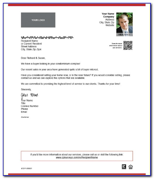 Real Estate Letters Free Templates