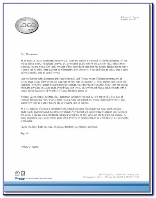 Real Estate Marketing Letters Templates