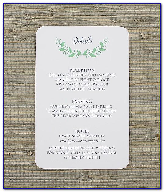Reception Card Design Template