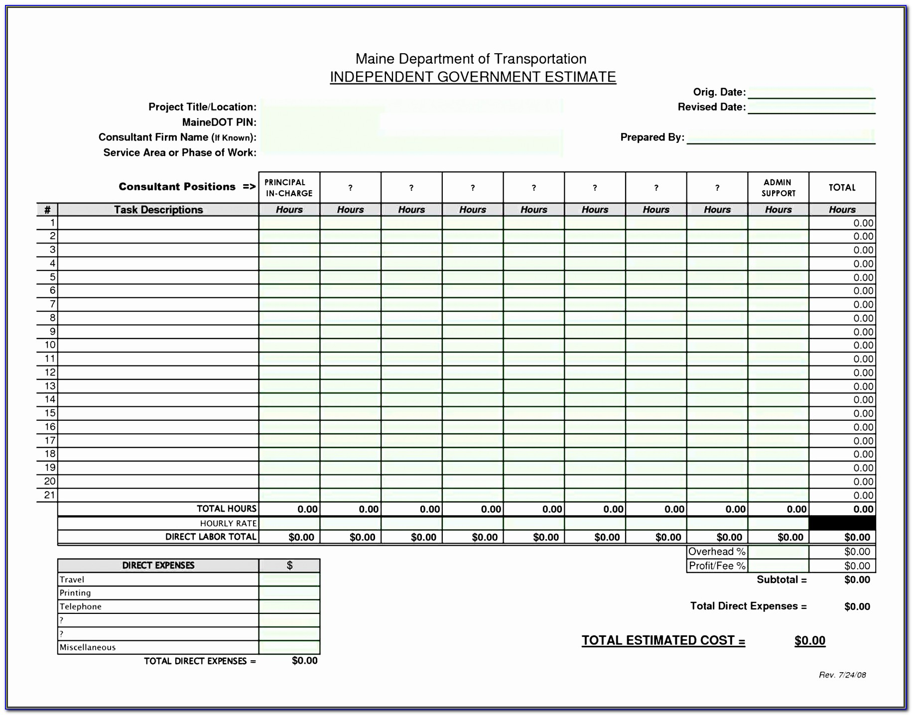 Excel Work Estimate Template C0pzns Awesome Estimate Forms Office Form Printable Free Construction Schedule
