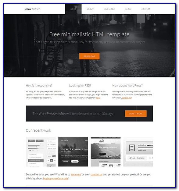 Responsive Html5 Templates Free Download With Css3
