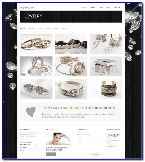 Responsive Jewellery Website Templates Free Download