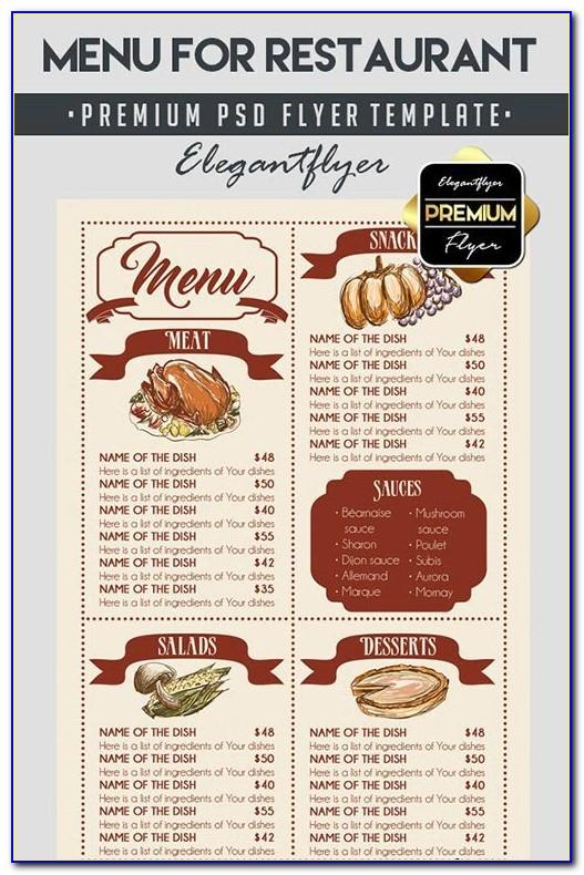 Restaurant Flyer Templates Free Download