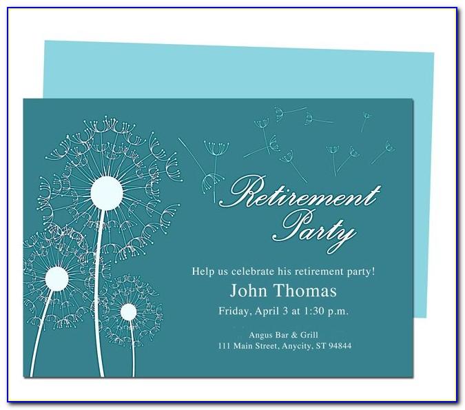 Retirement Invitation Wording Samples