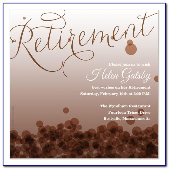 Retirement Invite Template Free