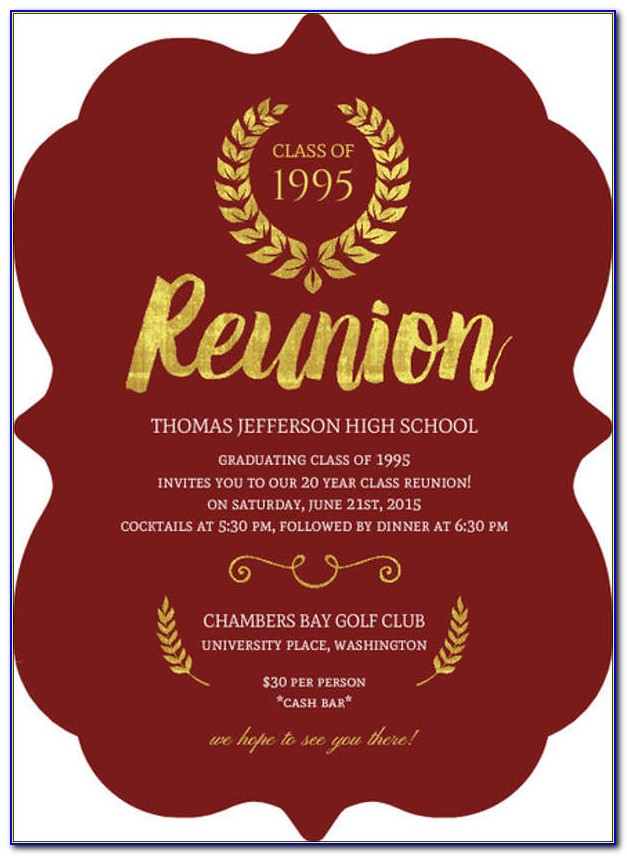 Reunion Invitation Templates Free Download