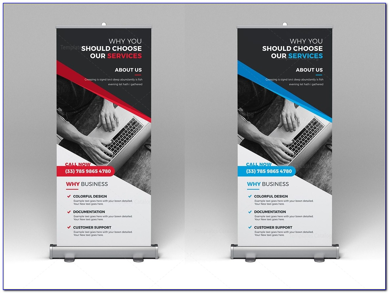Roller Banner Template Indesign