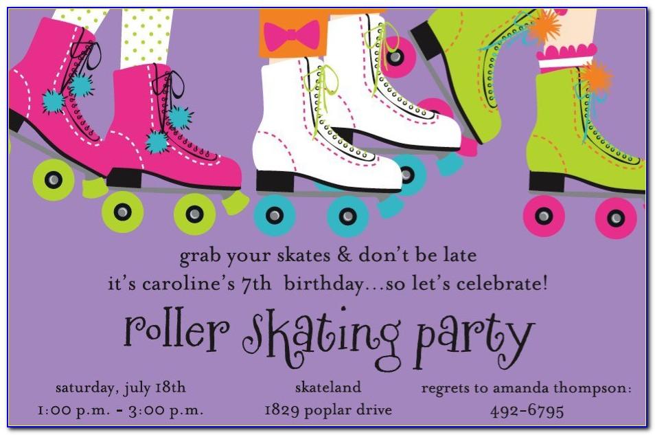 Roller Skating Birthday Invitations Templates
