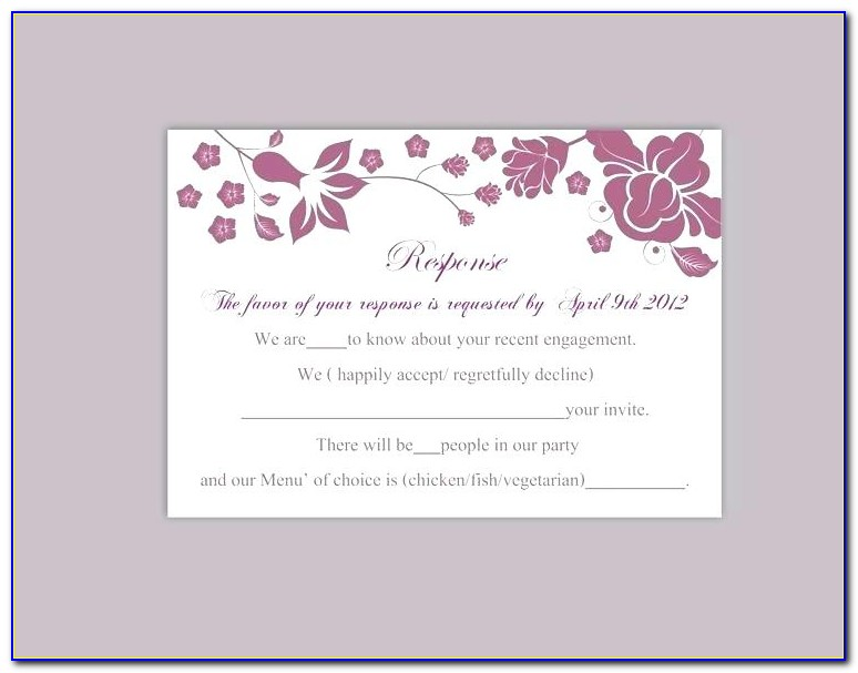 Rsvp Card Template 6 Per Page