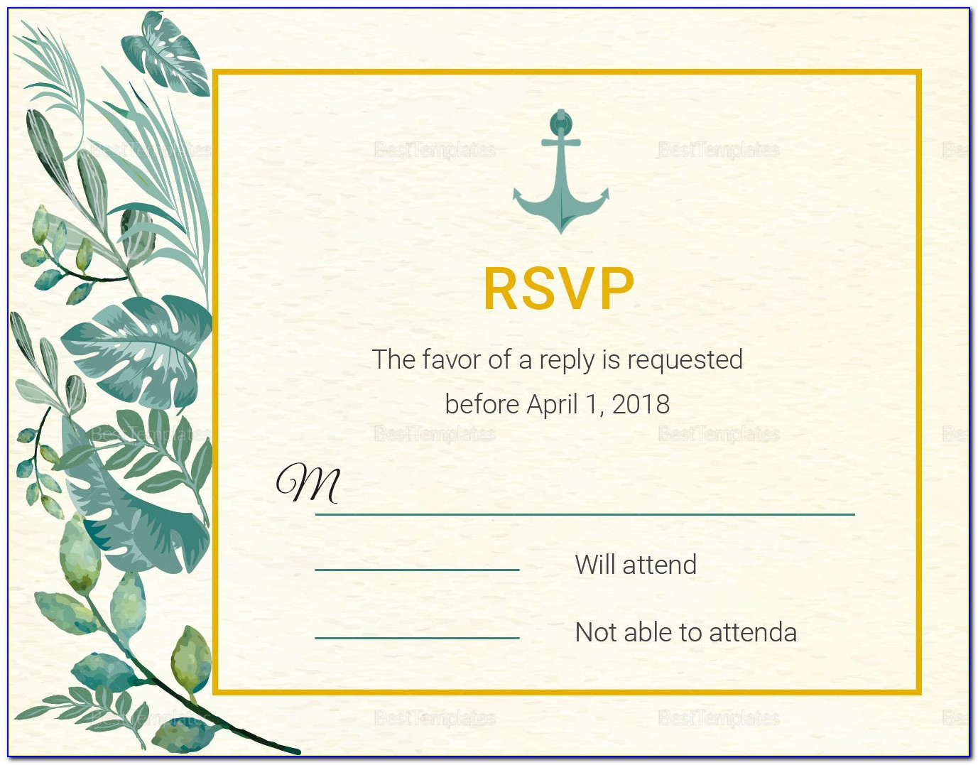 Rsvp Card Template Publisher