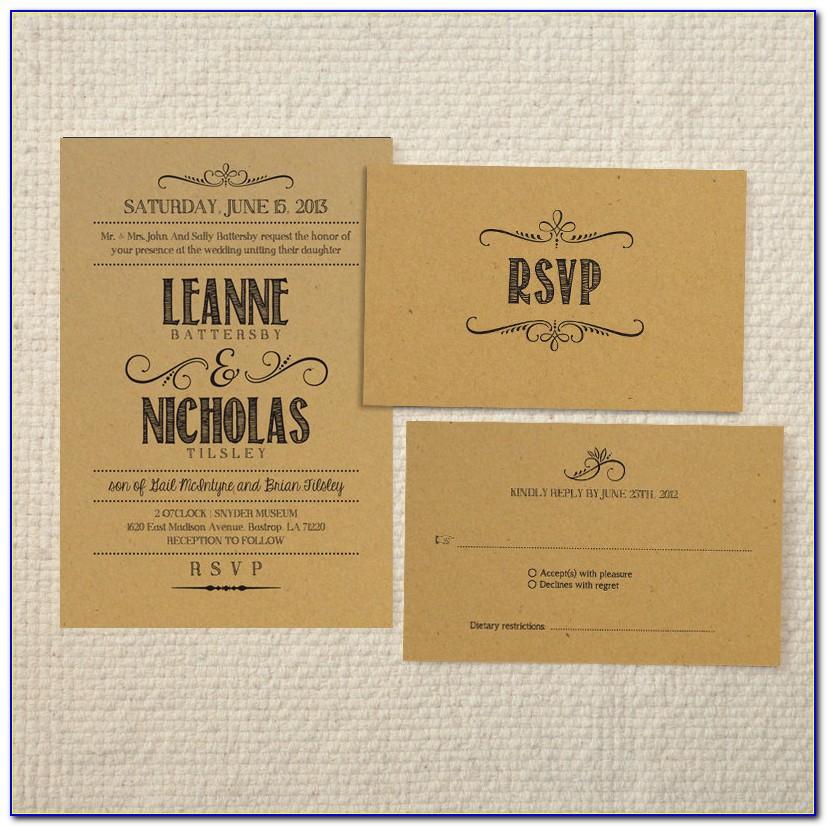 Rustic Wedding Invitation Template Free Download