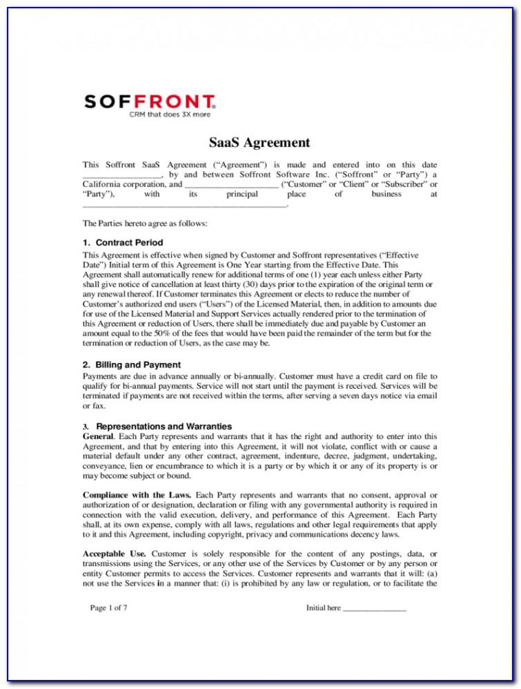 Saas Contract Template Uk