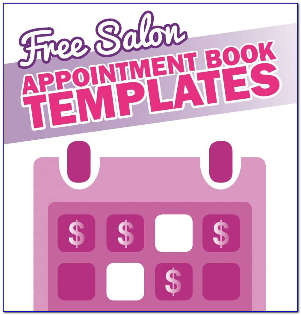 Salon Appointment Book Printable