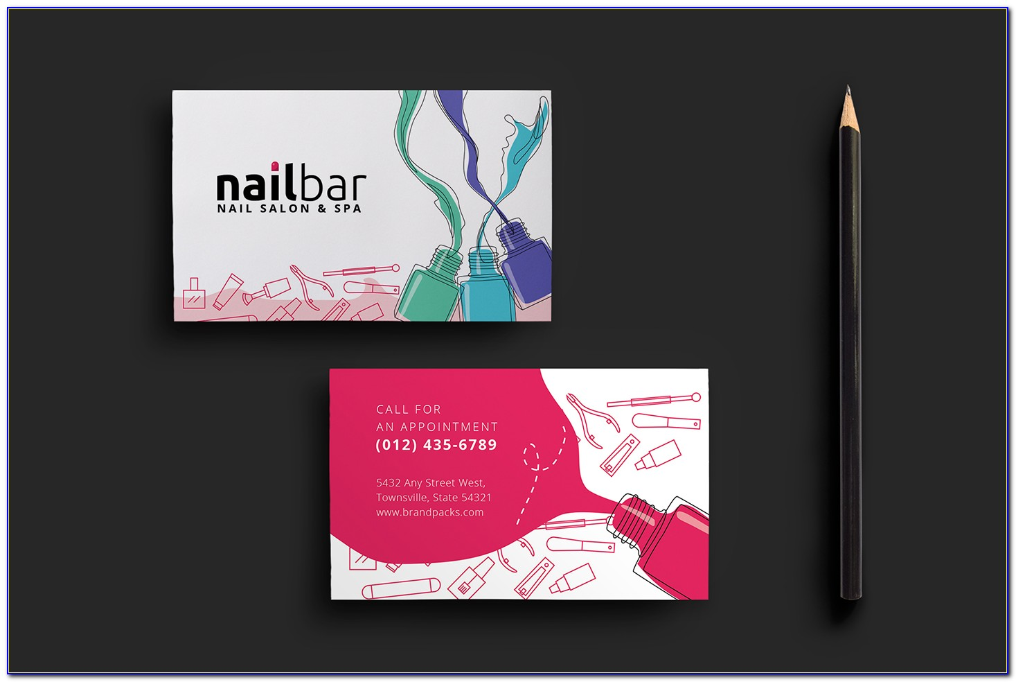 Salon Business Cards Templates Free