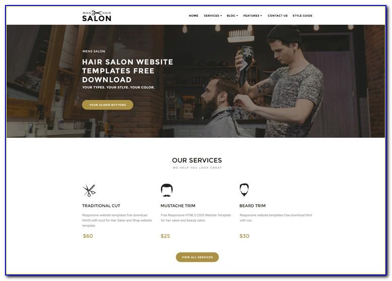 Salon Website Template Free