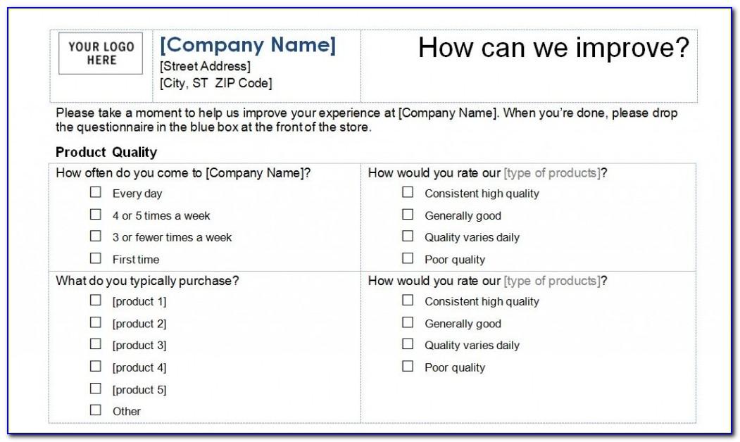 Sample Customer Survey Templates