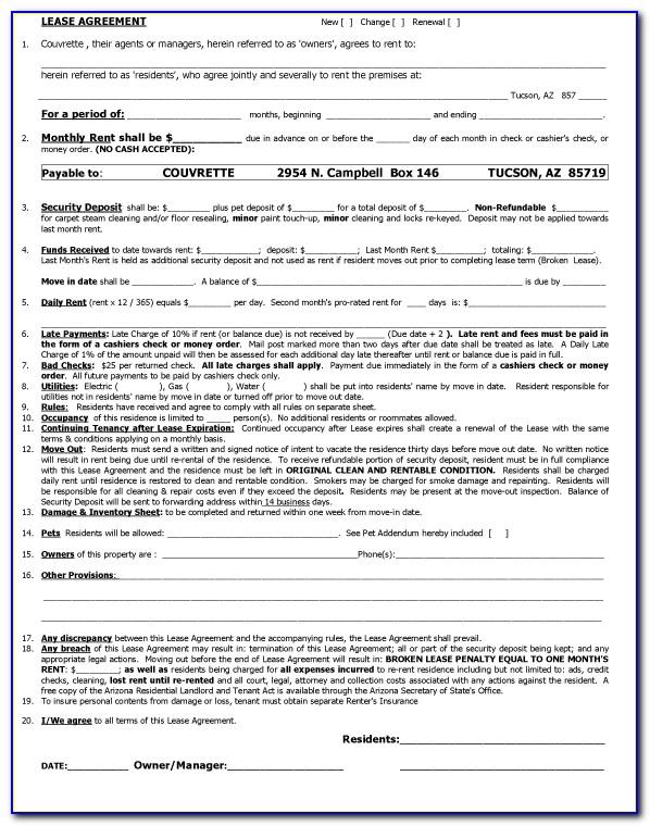 Sample Of Lease Agreement Letter