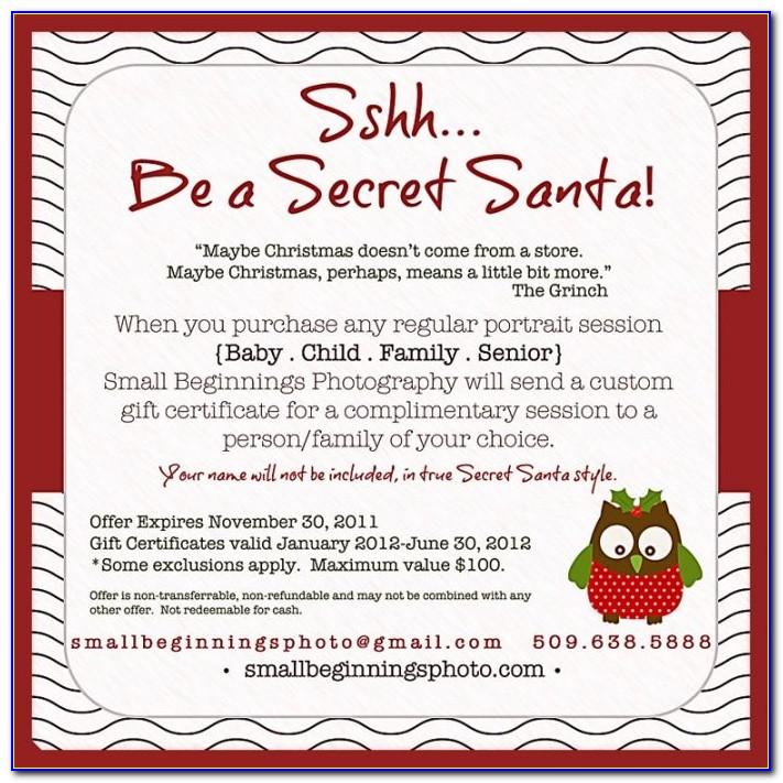 Secret Santa Party Invitation Templates