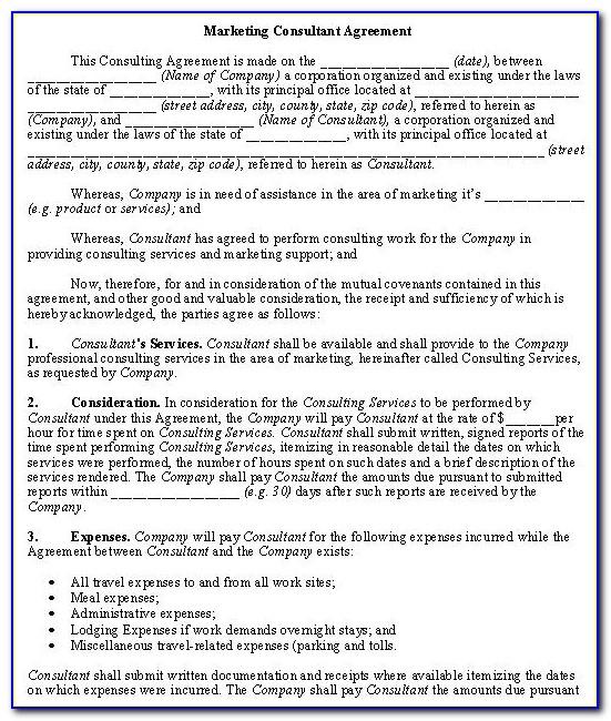 Self Employed Contract Agreement Template Uk