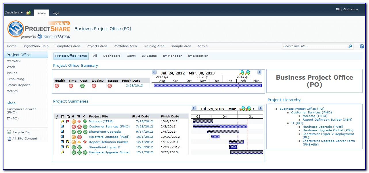 Sharepoint 2013 Project Management Template
