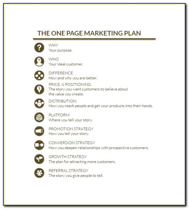 Simple Marketing Plan Sample Word