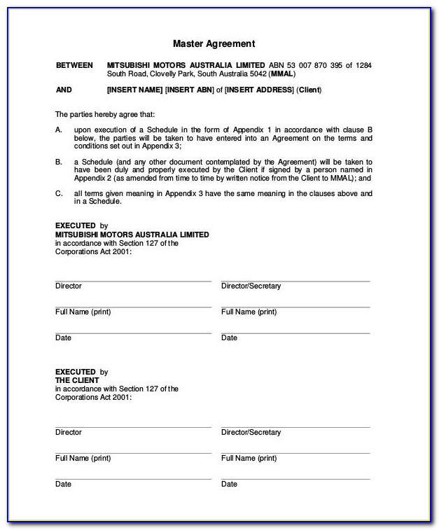 Simple Vehicle Lease Agreement Template Free