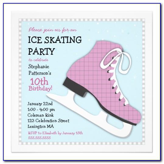 Skating Birthday Invitation Templates
