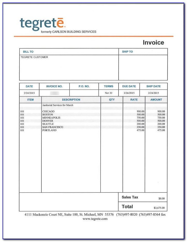 Snow Plow Invoice Template Free