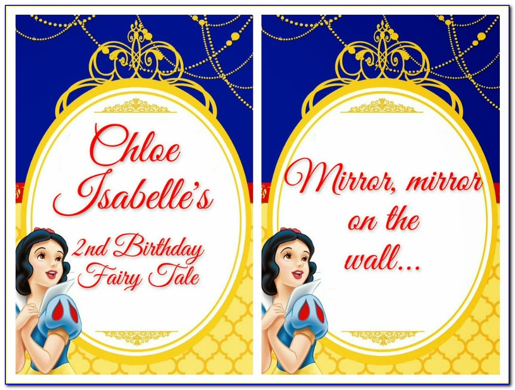 Snow White Birthday Party Invitation Templates
