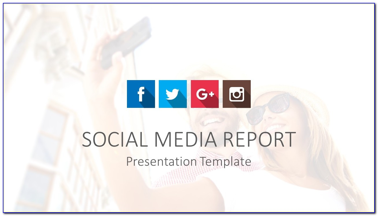 Social Media Report Ppt Template Free