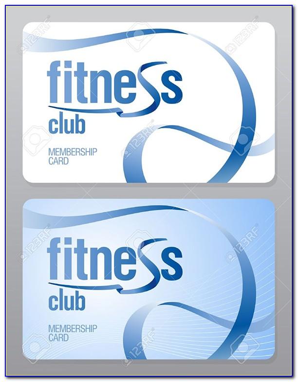 Sports Club Membership Card Template