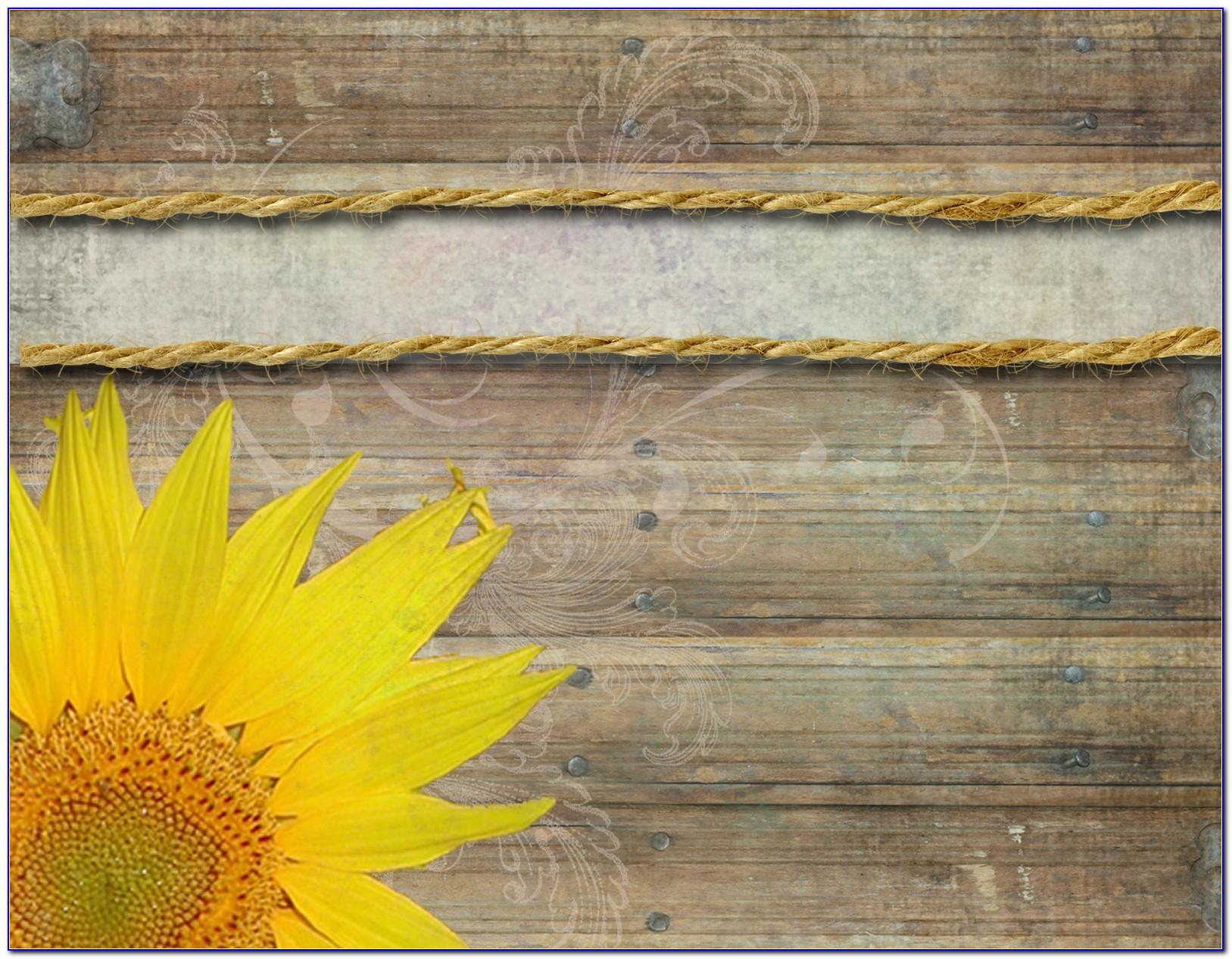 Sunflower Wedding Invitation Template Free