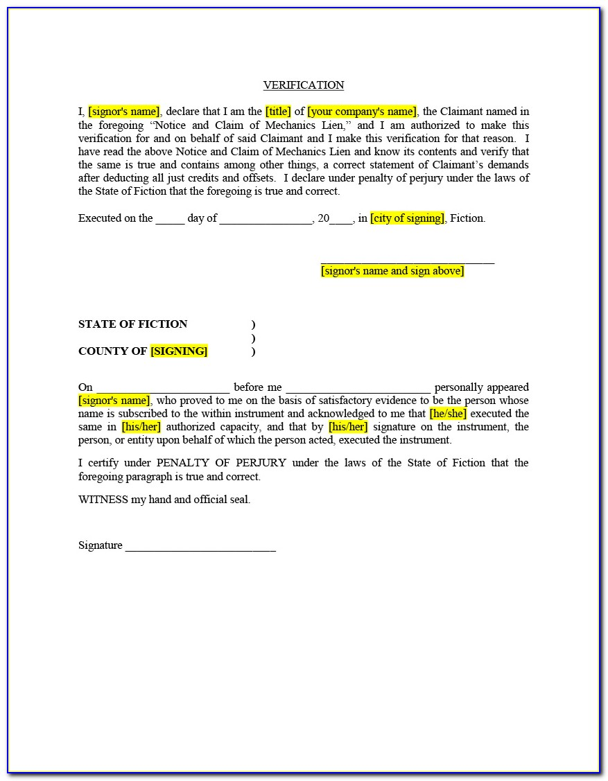 Supplier Final Lien Waiver Form