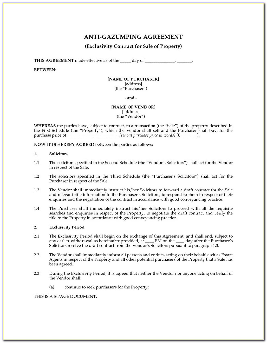 Supply Contract Template Free Uk